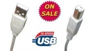 USB 2.0 A-B Beige Cable