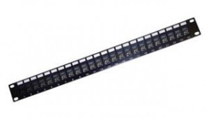 "Pass-through Cat 6 19"" Panel - 24 ports"